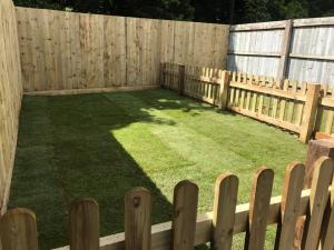 New fencing, fresh grass, dog & child areas