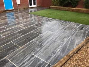 Paving and artificial turf