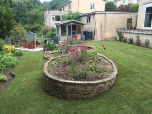 Landscaped garden - the finished article