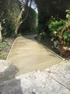 New garden path to provide disabled access