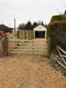Fencing and gravel driveway in Wiltshire