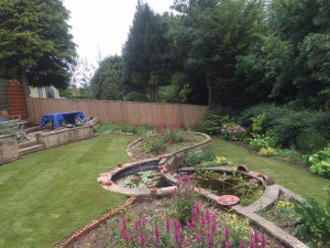 Landscaping a Wiltshire garden with a pond and interesting layout