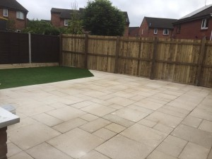 Large new patio area, great for entertaining