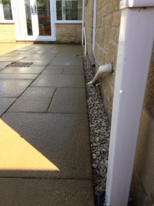 New paving slabs laid for an interesting patio
