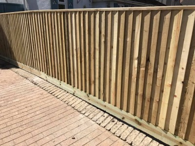 New fence in Wiltshire