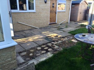 Old patio to be replaced