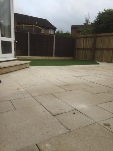 Patio, lawn and new fence - Dan Davies Landscaping, Wiltshire