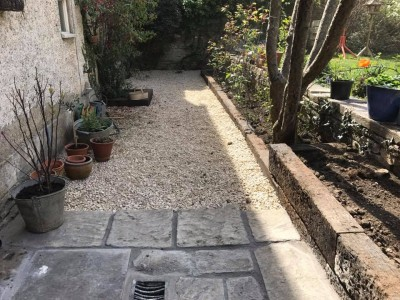 Paving and gravel path
