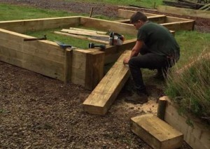 Constructing raised beds in Wiltshire